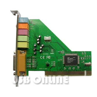 C media cmi8738 4 channel pci sound card